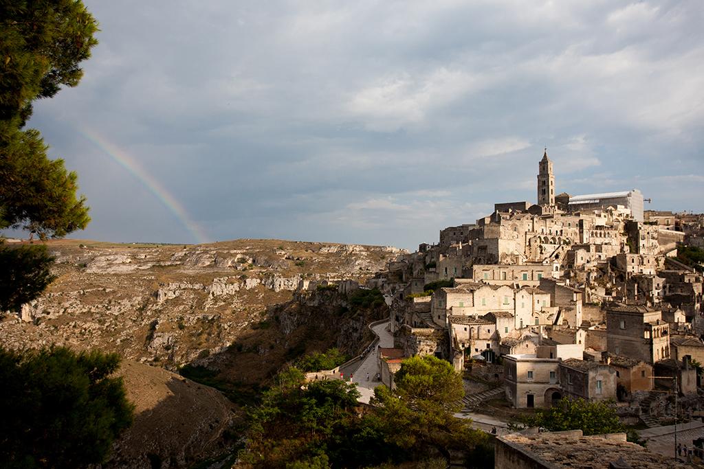 Rainbow over Matera