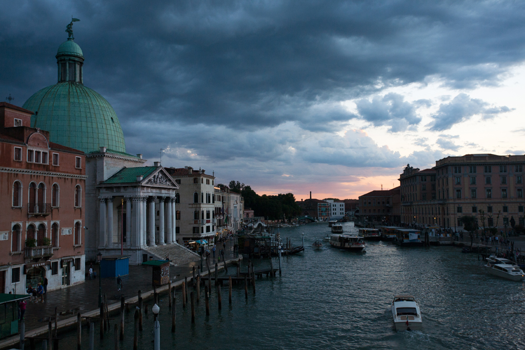 dark clouds over venice