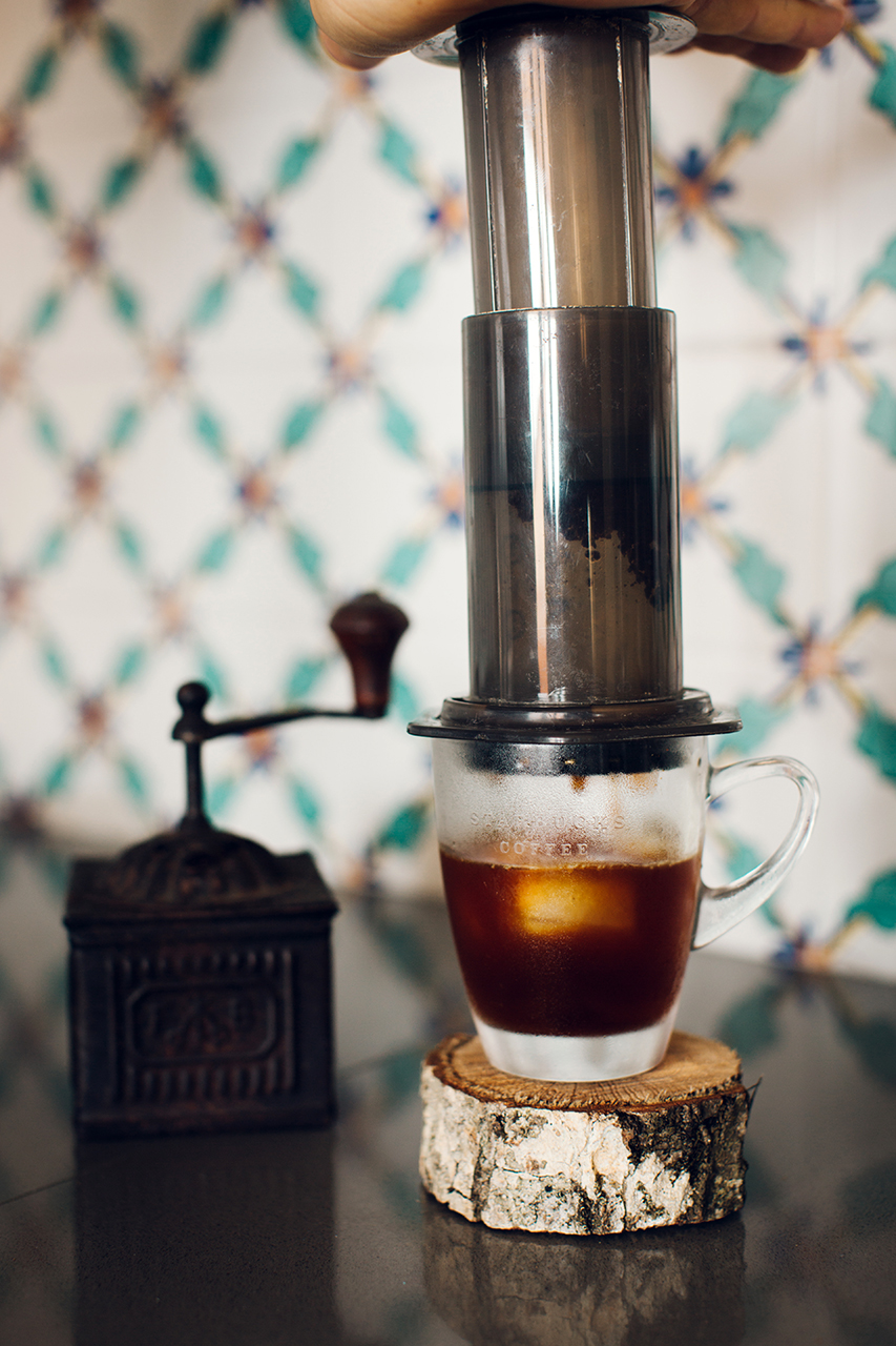 flash coffee aeropress