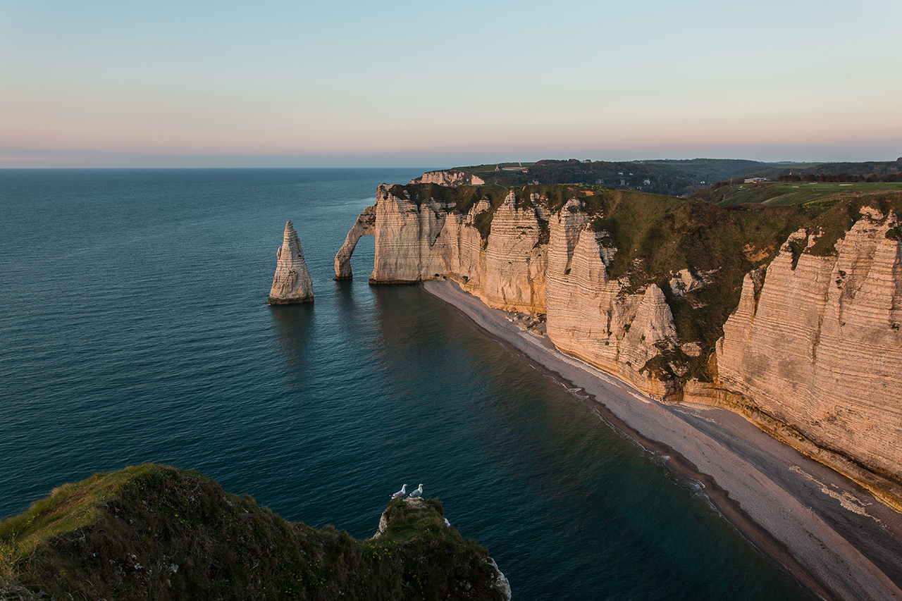 Étretat at sunset