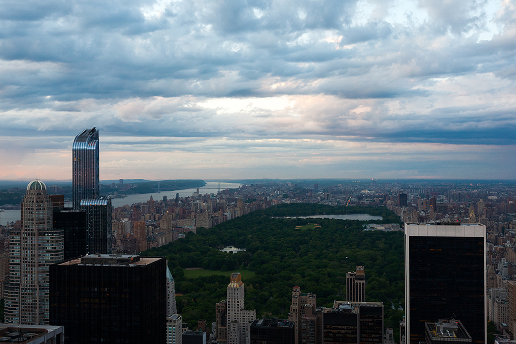clouds over central park new york