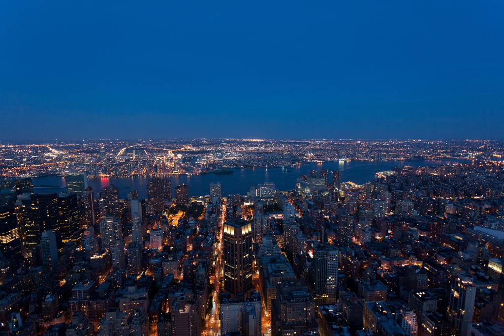 Bright Lights Big City New York Landscape