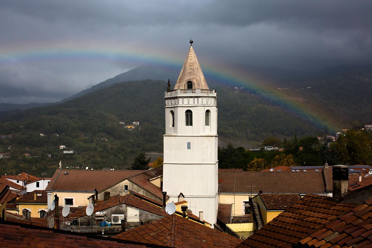 rainbow over lauria
