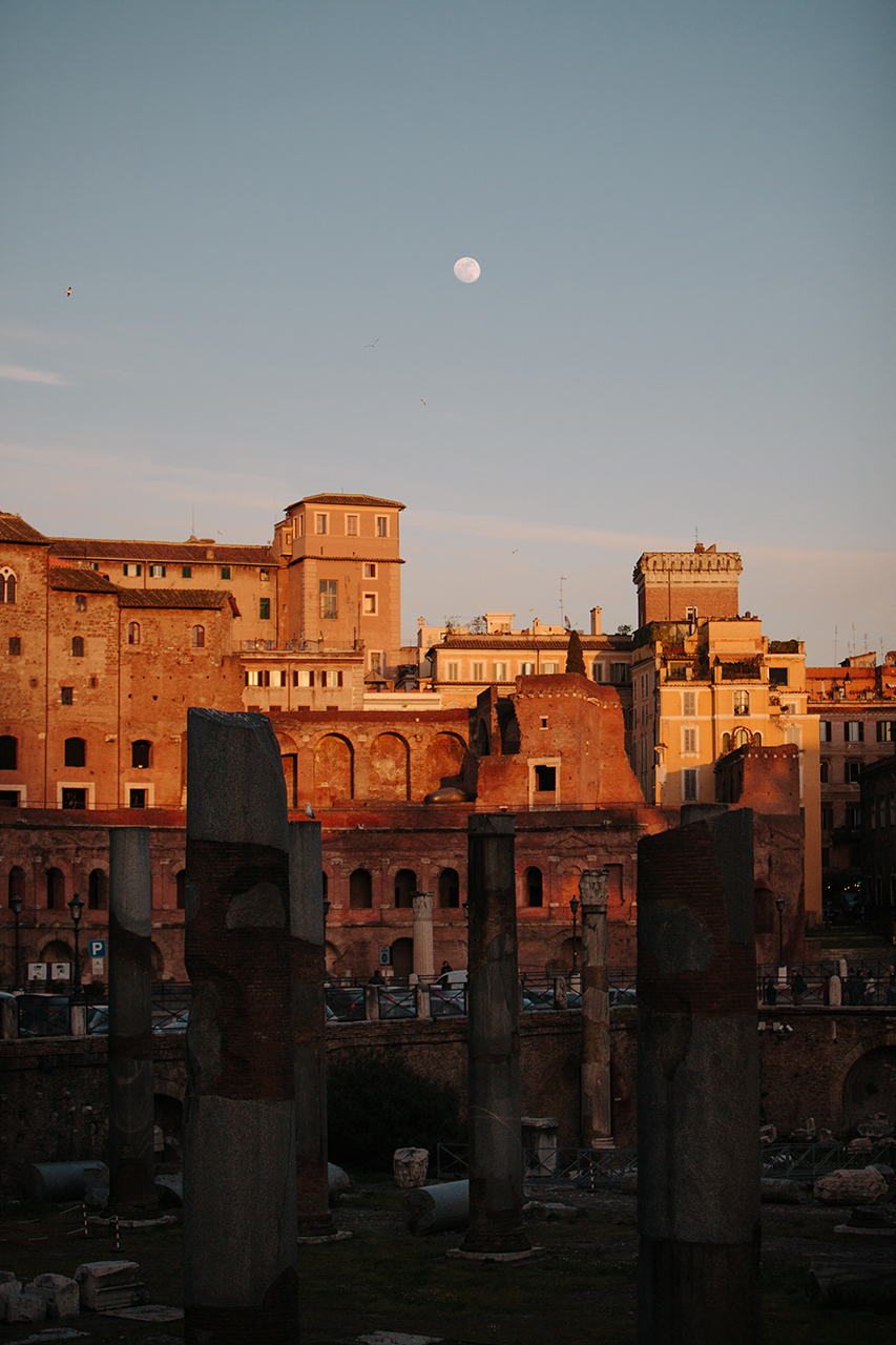 sunset rome ruins