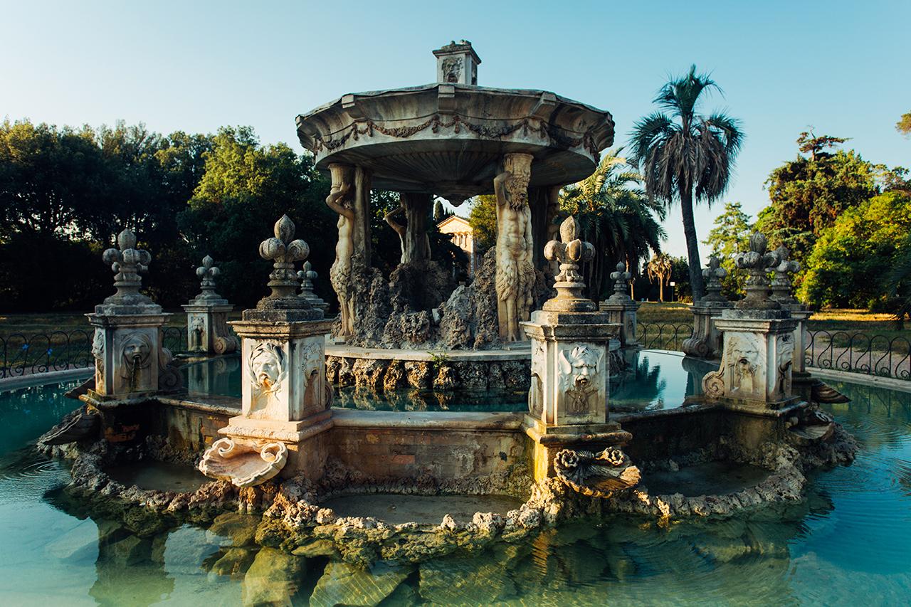 fontana cupido villa pamphili