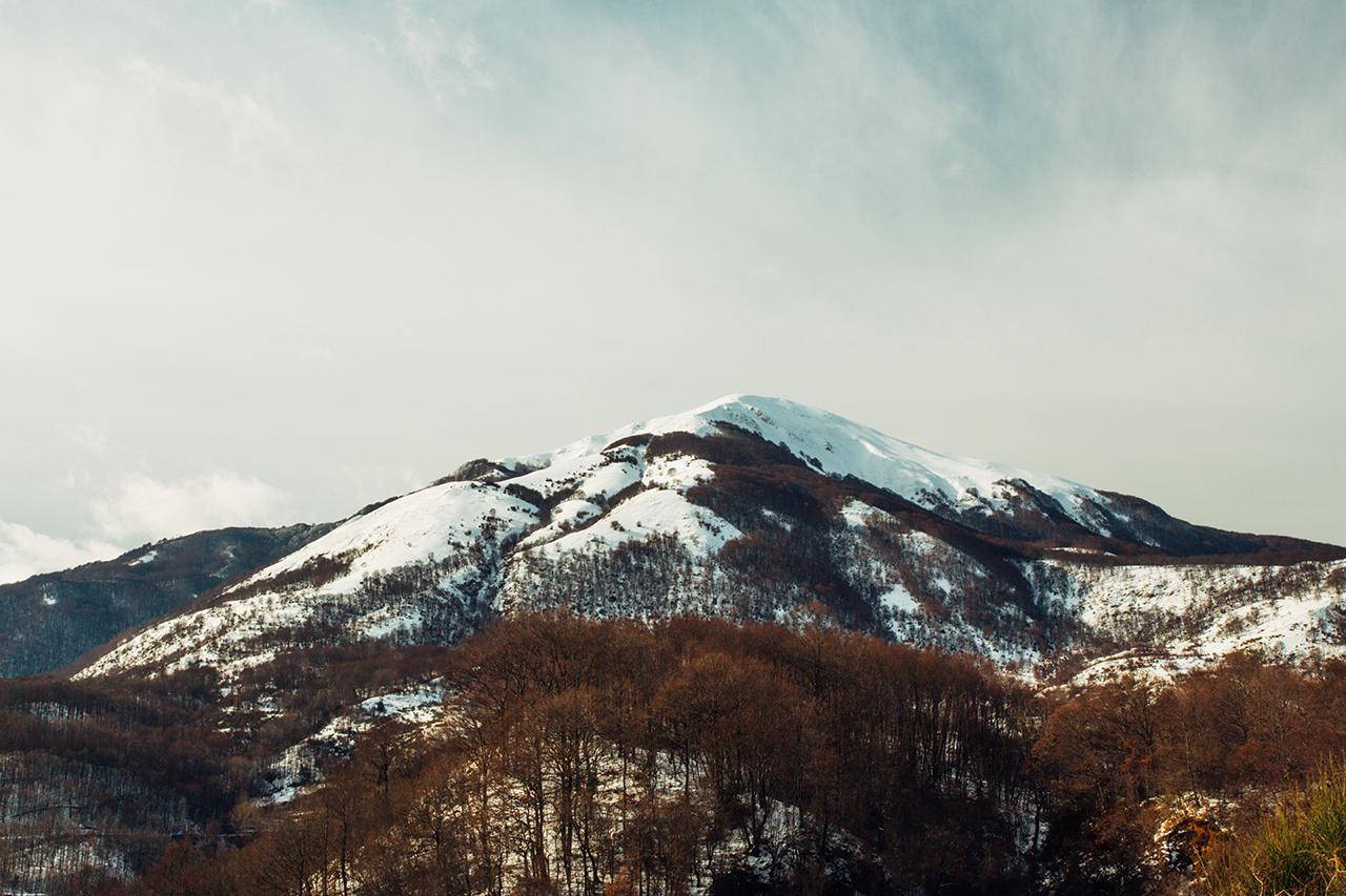 sirino snowy mountain