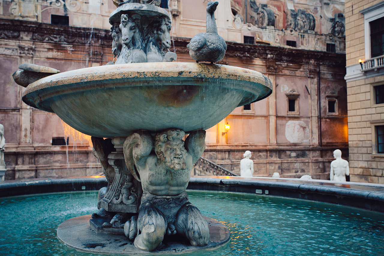 palermo fontana pretoria dettaglio