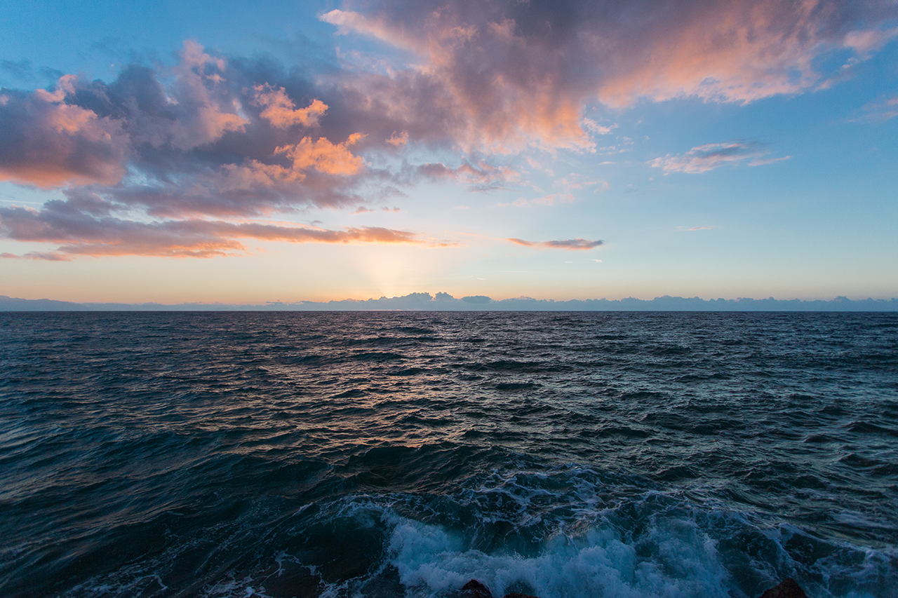 cefalù mare tramonto
